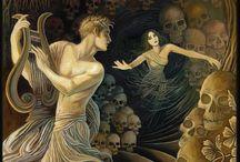 Ilustración, pintura decorativa, prerafaelístas