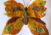 dekoracje z liści suszonych