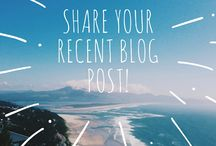 Recent Blog Post / Are you an active blogger and would love to share your recent blog post to the board?   To join FOLLOW ME first or else I won't be able to add you. Also email me at: info@beautythatwalks.com with your Pinterest email - INVITE OTHER BLOGGERS TOO!