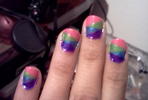 My own Nail Art / My creativity is out there. Im still a beginner but im learning face. / by Liz Marrufo