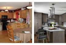 Before & After / Remodeled spaces - old to new. Within any space, it's possible.
