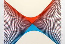 Yann Brien // Look Up launch collection artist / Yann Brien – silkscreen artist, screenprints, limited edition prints, printmaking, geometry, line, pattern, colour.