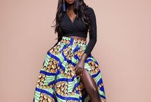 African Print Maxi Skirts