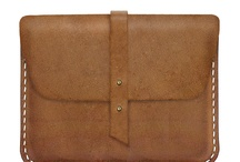iPad leather sleeve.