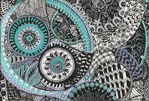 Arte abstracto grullas