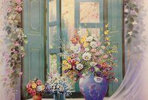 παράθυρα ζωγραφικη