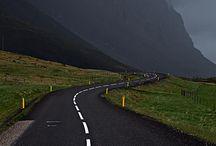 Országút, ösvények