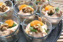 Heerlijke kipcocktail of garnalencocktail met walnoten