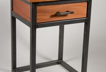Metaalhout meubels