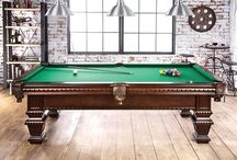 Man-Cave Ideas / A multi purpose game room table is a staring point for your man-cave. Pool table, Poker table!