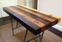 block wood tables