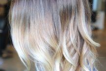 ombre włosy krótkie blond / fryzury