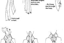 SCARVES - HOW TO TIE ETC / DIFFERENT IDEAS