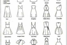 Skirt / dress style elements / See 'blouse/shirt style elements' board for necklines and sleeves.