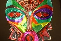 elementary art - masks / by Laine Van