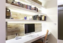 Interior design / Good use of a shallow space to set up a home office