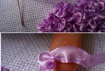 ribbon embroidery / ribbon embroidery