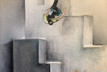 parkour freerunning paintings