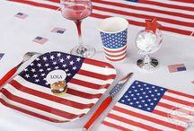 Amerikansk US tema fest