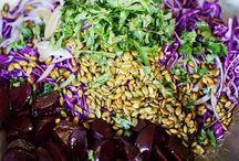 Greens & Grains / Ensaladas e ideas de comida con veggies.