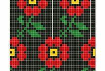 punamustat kukkalapaset
