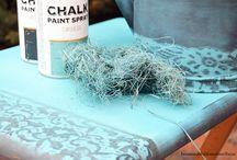 Chalk Paint / Trabajos, inspiración y DIY con chalk paint o pintura de tiza en spray