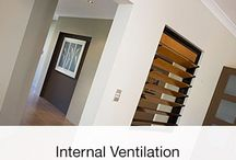 Internal Ventilation / Allow air to flow freely througout your home with Altair Louvre Windows.