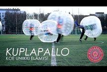 Kuplapallo / Bubble soccer! www.kuplapallo.fi