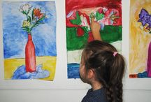 School Holiday Program / During the school holidays we ran a series of art workshops for primary school aged kids that ranged from self portraiture, watercolours, collages, and picasso inspired masks.