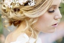 bridal hair arrangement