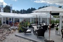 Corporate Marquee Hire / Marquees can be used to create temporary space for corporate events.