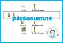 PictoSumas / Fer sumes comprensives a través de la lectura de pictogramas.