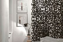 """Hanging screen room divider, DIY room divider, hanging screens by RAZORTOOTHDESIGN / Decorative screen room divider, DIY kit, 12"""" x 12"""" modular tiles that interlock on 4 sides to create a continuous screen room divider, window shade, or decorative wall cover.  Order on line  www.modulariscreen.com"""