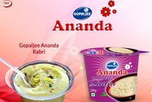 Ananda Rabri / Enjoy delicious Ananda Indian Sweets and desserts- Rice Kheer, Royal Rabri, Cheena Kheer and Mishti Doi. All these are ideal desserts to compliment an Indian meal and are available in convenient multi –sealed cup packs.