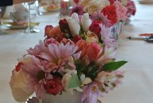 Table Decorations Using Teapots