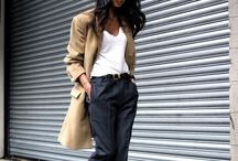 {Fashion} camel trench