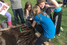 Giving Back to the Community, HBF STYLE / Earlier this week staff members Jessica Menke and Hollie Spivey spent the day at Carlton Elementary's fourth grade class planting HBF berries and touring the kids' greenhouse!