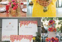 Magenta Poppy Yellow Wedding