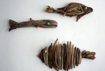 driftwood sculptures