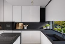 Black White kitchen