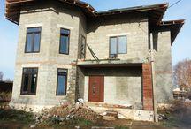 Строительство дома / Фотографии со строительства домов из керамзитобетонных блоков Чебоксарского Стройкомбината.
