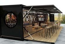 Container Canteens / Canteens, cafes, kiosks made from containers