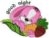 Good Night Embroidery Designs