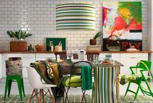 Green Galore! / Love all shades of luscious green, a variety of objects in art, decor and fashion.