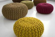 Crochet Foot Stools