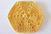 Hexagonos em crochet