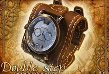 """Watchband """"Double step"""" Ремешок для часов / Ремешок для часов - Кожа - пола шорная, нубук, фурнитура латунь, прошито вручную"""