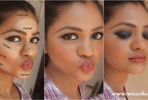 Indian Skin, Makeup, Hair