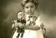 Vintage photo's with dolls