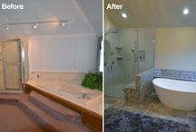 Before and After Bathroom Remodel / Columbus Ohio bathroom remodeling before and after pictures.